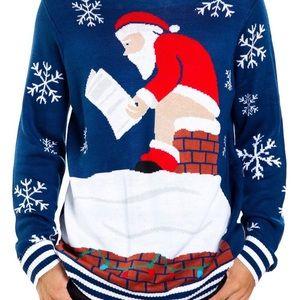 Tipsy Elves Ugly Christmas Sweater Santa Pooping